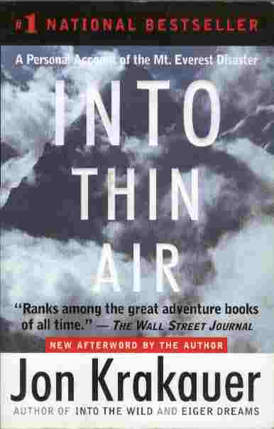 Image for Into Thin Air -- A Personal Account of the Mount Everest Disaster