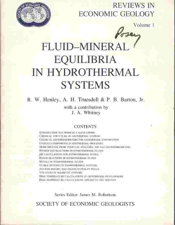 Image for Fluid-Mineral Equilibria in Hydrothermal Systems