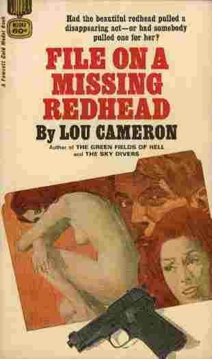 Image for File on a Missing Redhead  - Had the beautiful redhead pulled a disappearing act - or had somebody pulled one for her?