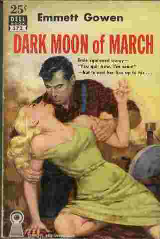 "Image for Dark Moon of March  - Ersie squirmed away - ""You quit now, I'm scairt."" - but turned her lips up to his..."