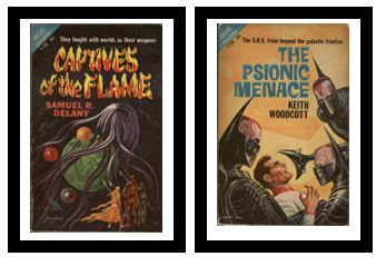 Image for Captives of the Flame / The Psionic Menace  - They fought with worlds as their weapons /  - The S.O.S. from beyond the galactic frontier